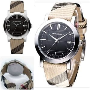 Authentic Burberry Nova Check Swiss Watch